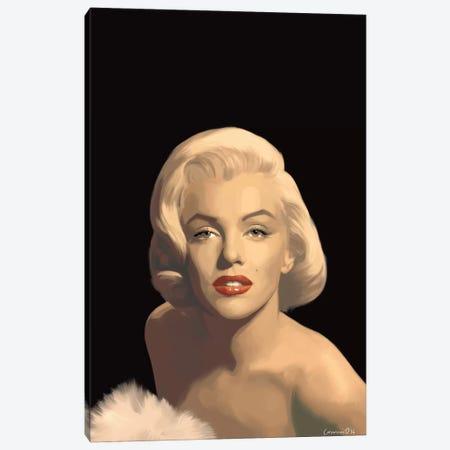 Classic Beauty In Black Canvas Print #CCI10} by Chris Consani Canvas Art Print