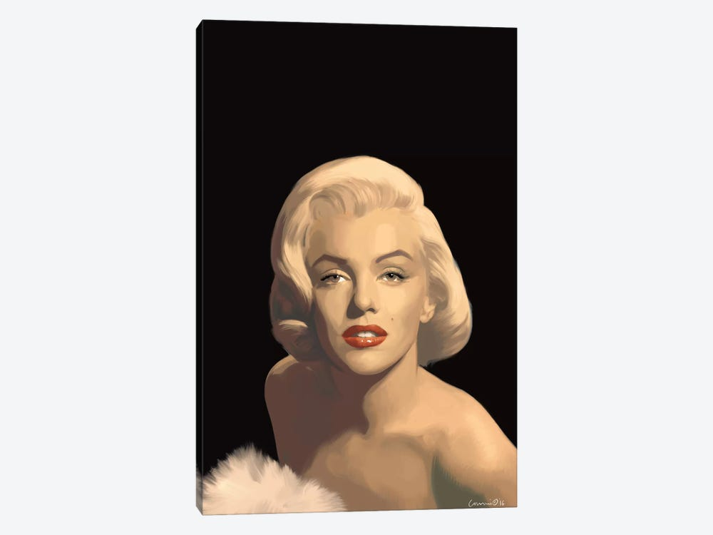 Classic Beauty In Black by Chris Consani 1-piece Canvas Wall Art