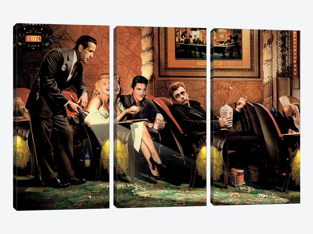 Classic Interlude I by Chris Consani 3-piece Canvas Print