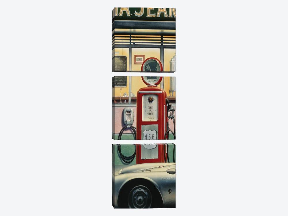 Destiny Highway, Car Crop by Chris Consani 3-piece Canvas Print
