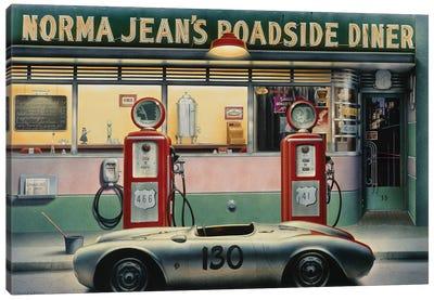 Destiny Highway Calendar Girl Canvas Art Print