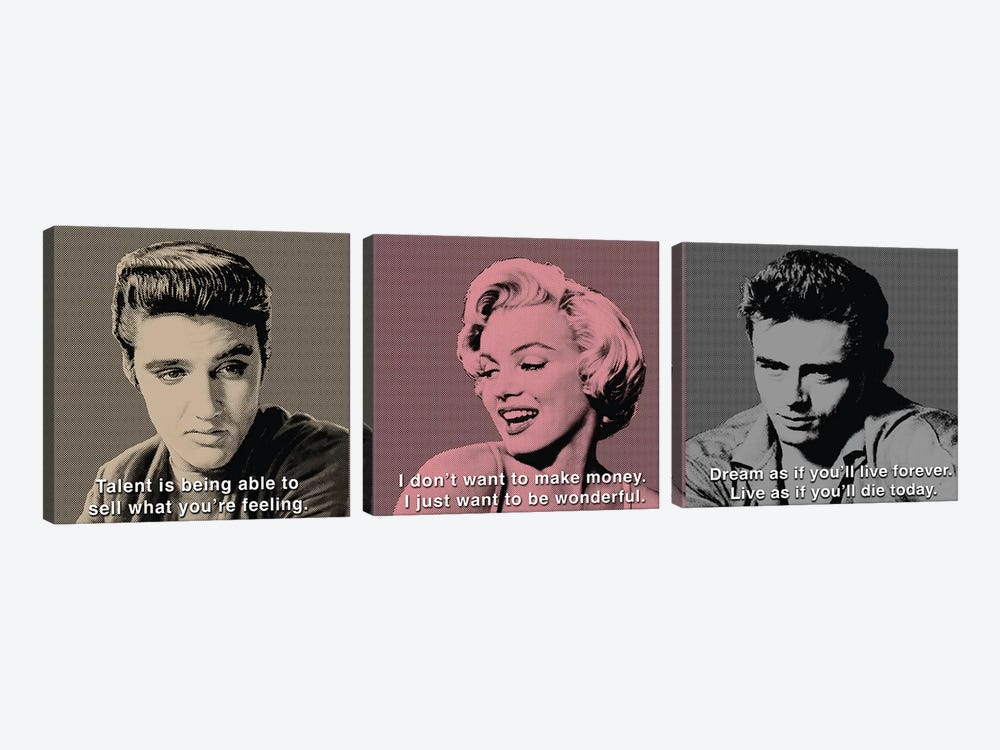 American Icon Triptych by Chris Consani 3-piece Art Print
