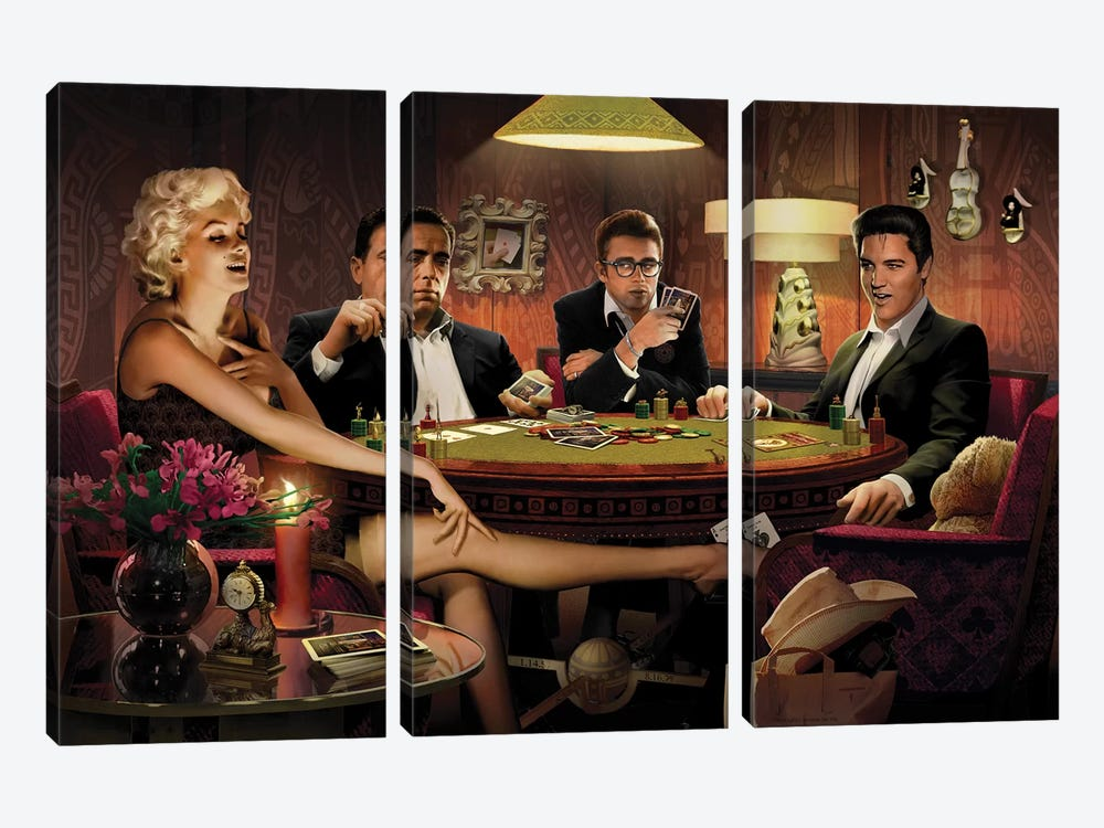 Four Of A Kind I by Chris Consani 3-piece Art Print