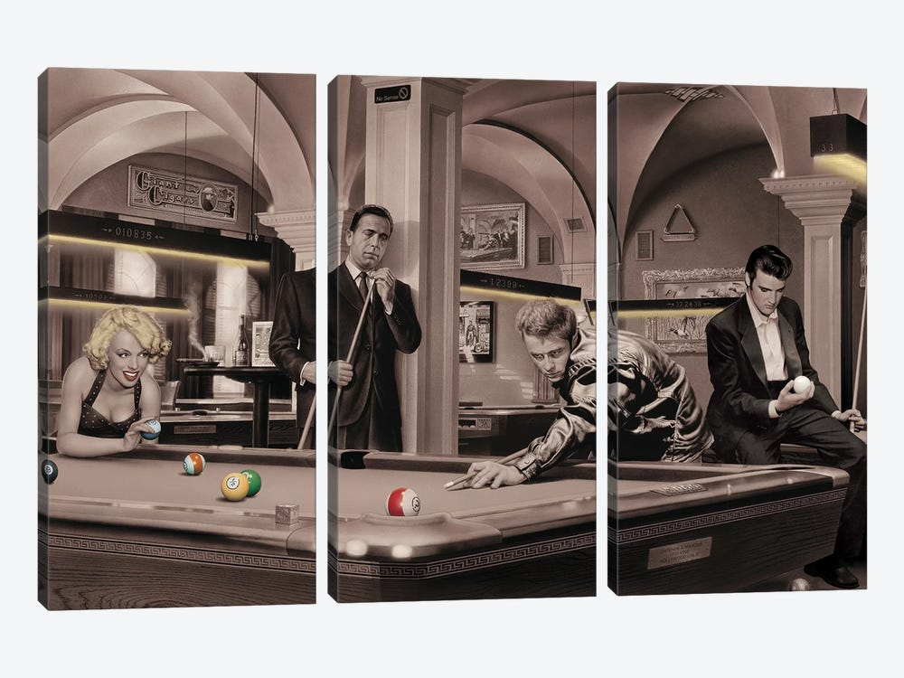 Game Of Fate II by Chris Consani 3-piece Canvas Print