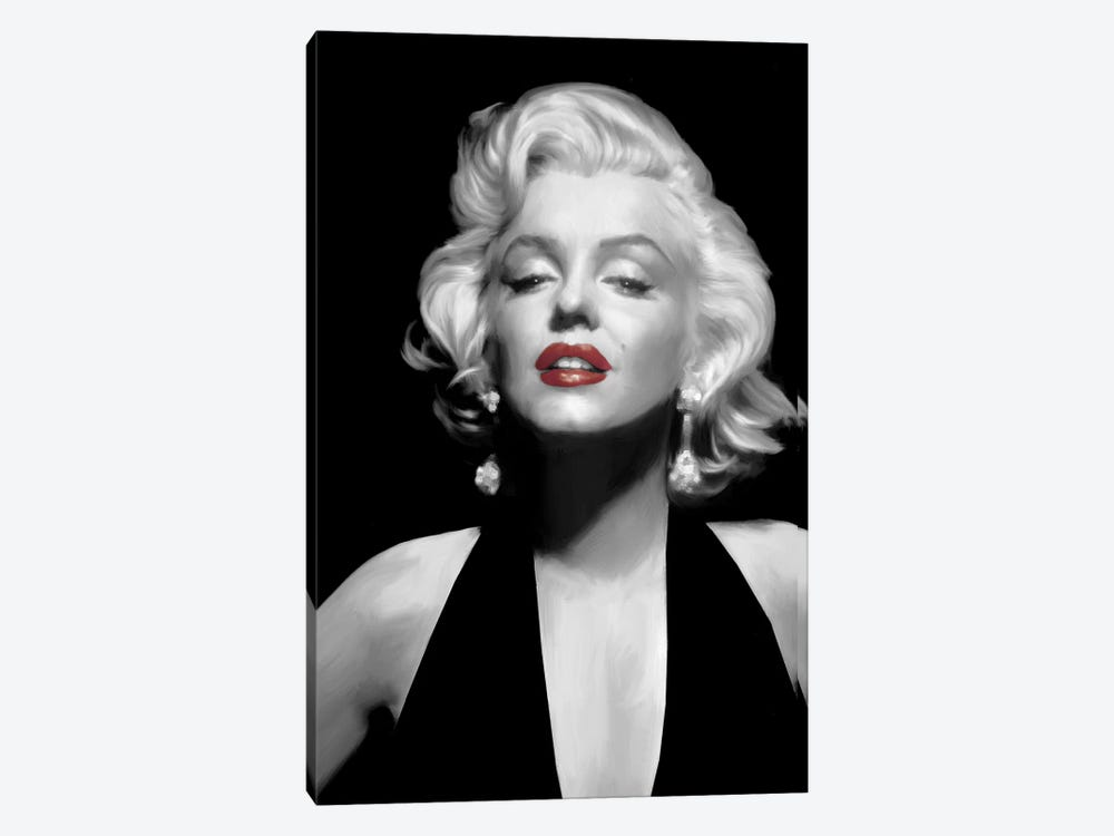 Halter Top Marilyn Red Lips by Chris Consani 1-piece Canvas Wall Art