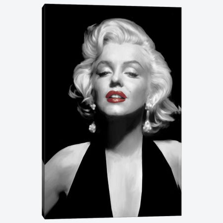 Halter Top Marilyn Red Lips 3-Piece Canvas #CCI27} by Chris Consani Canvas Print