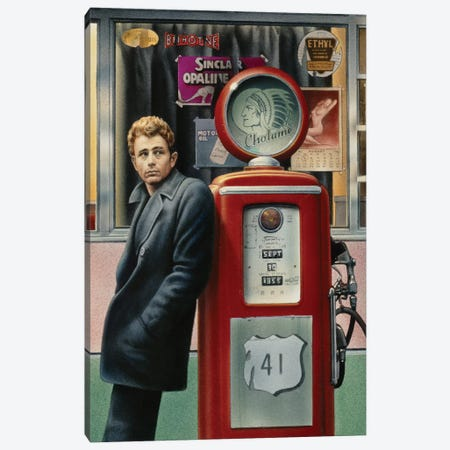 James Dean Canvas Print #CCI30} by Chris Consani Art Print