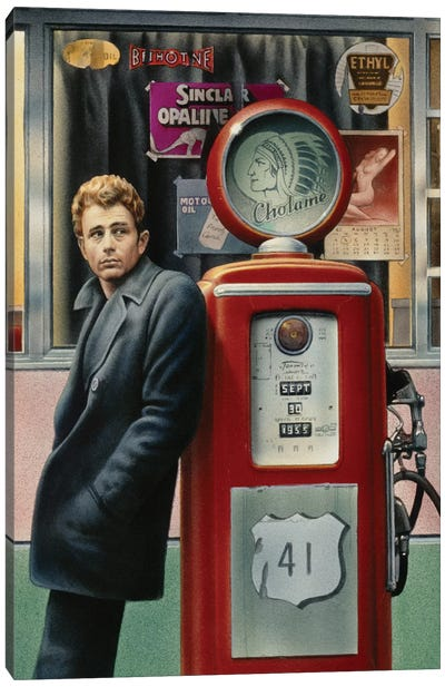 James Dean Canvas Art Print