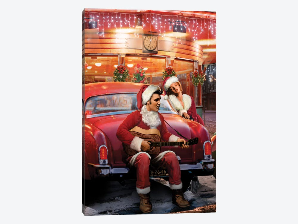 Legendary Crossroads Christmas by Chris Consani 1-piece Canvas Art Print
