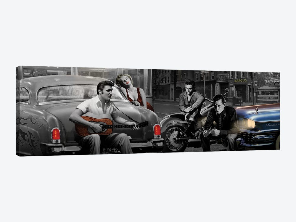 Legendary Crossroads Panoramic 1-piece Canvas Print