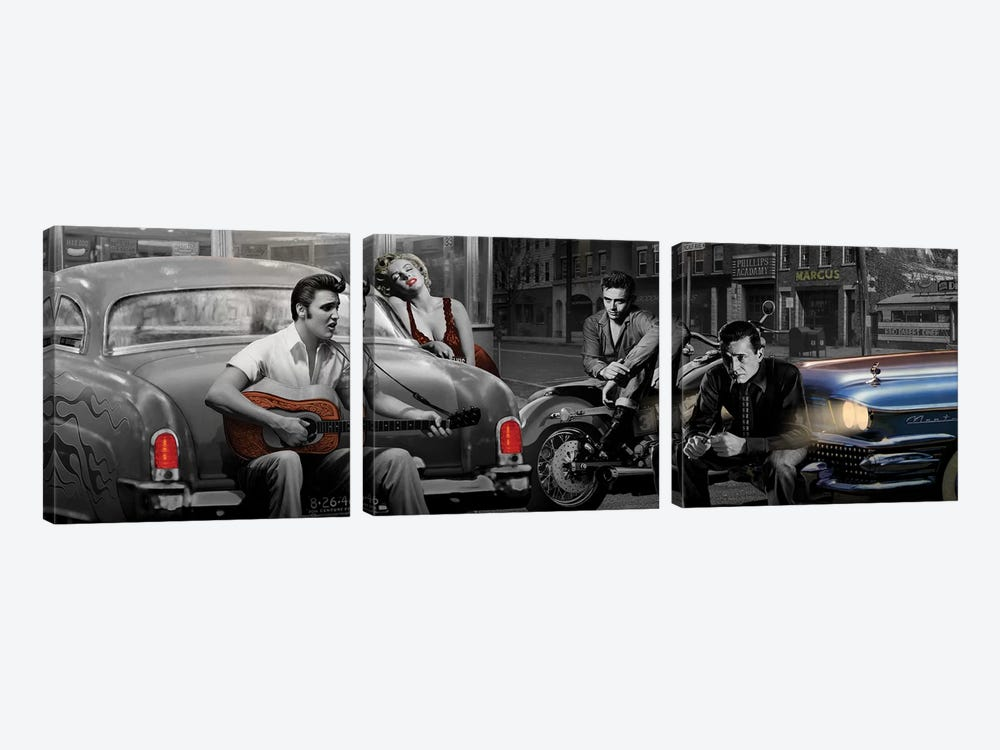 Legendary Crossroads Panoramic 3-piece Art Print