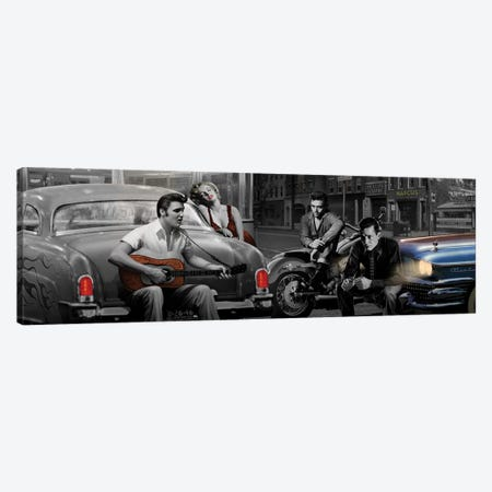 Legendary Crossroads Panoramic 3-Piece Canvas #CCI40} by Chris Consani Canvas Artwork