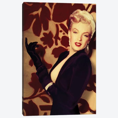 Marilyn Gloves Canvas Print #CCI46} by Chris Consani Canvas Print