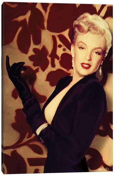 Marilyn Gloves Canvas Art Print