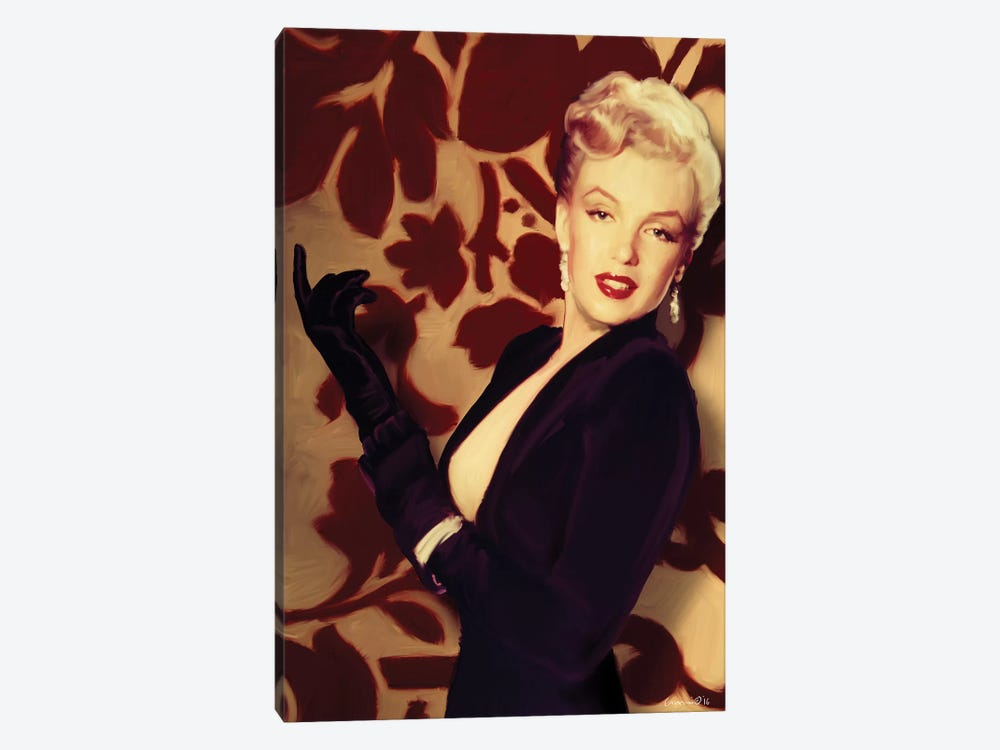 Marilyn Gloves by Chris Consani 1-piece Canvas Art Print