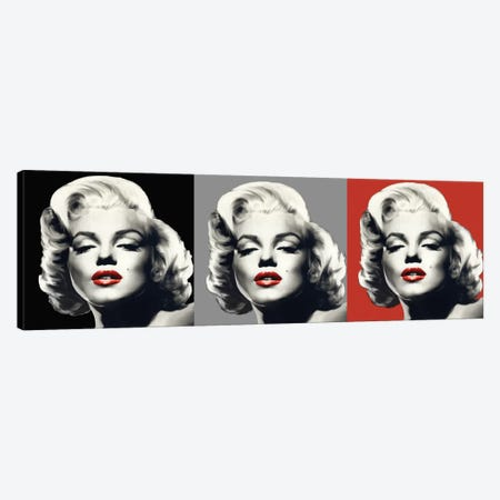Marilyn Graphic Trio Canvas Print #CCI47} by Chris Consani Canvas Print