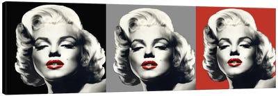 Marilyn Graphic Trio Canvas Art Print