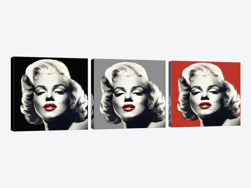 Marilyn Graphic Trio by Chris Consani 3-piece Canvas Art
