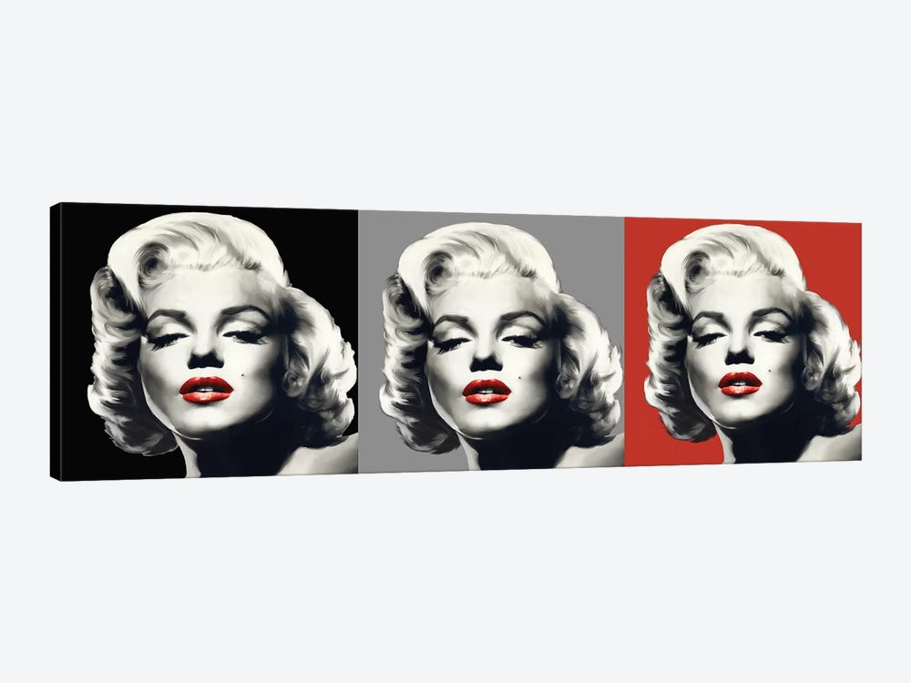 Marilyn Graphic Trio by Chris Consani 1-piece Canvas Art