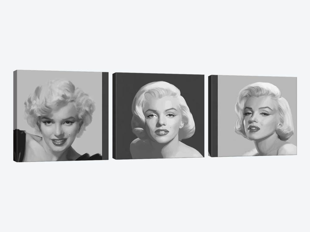 Marilyn Trio by Chris Consani 3-piece Canvas Print