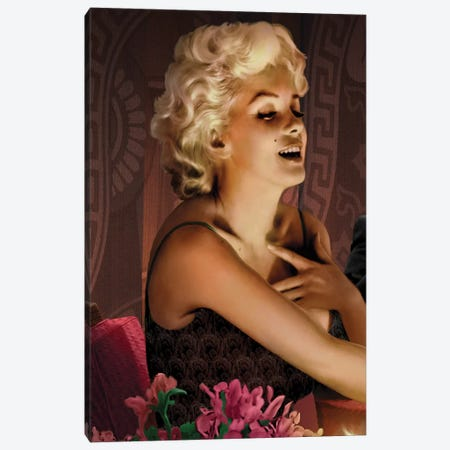Marilyn's Touch Canvas Print #CCI55} by Chris Consani Canvas Wall Art