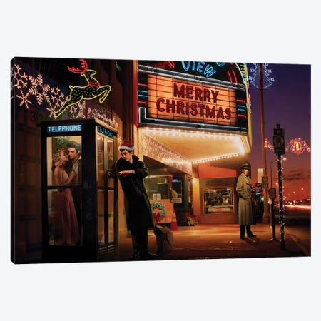 Midnight Matinee Christmas Canvas Print #CCI59} by Chris Consani Canvas Art Print