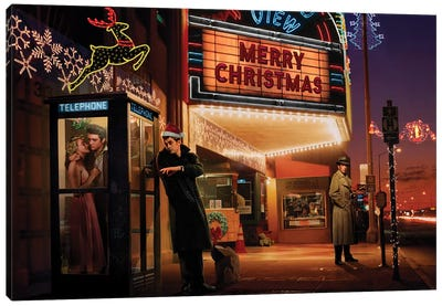 Midnight Matinee Christmas Canvas Art Print
