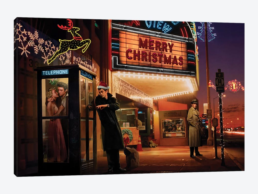 Midnight Matinee Christmas by Chris Consani 1-piece Art Print