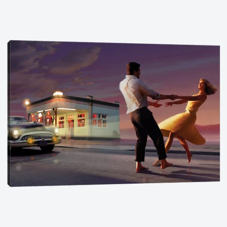 Night Dance Canvas Print #CCI60} by Chris Consani Canvas Wall Art