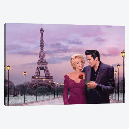 Paris Sunset Canvas Print #CCI63} by Chris Consani Canvas Art