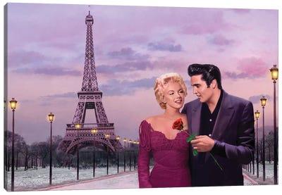 Paris Sunset Canvas Art Print