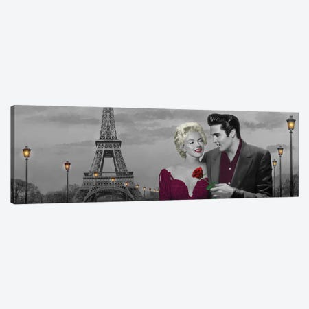 Paris Sunset Panoramic I Canvas Print #CCI64} by Chris Consani Art Print