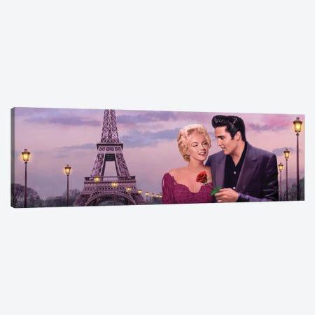 Paris Sunset Panoramic II Canvas Print #CCI65} by Chris Consani Canvas Art Print