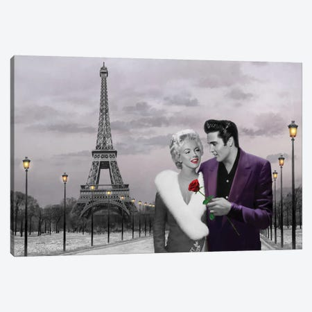 Paris Sunset In Snow Canvas Print #CCI66} by Chris Consani Canvas Art Print