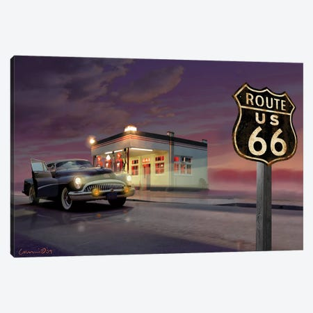 Route 66 Canvas Print #CCI72} by Chris Consani Canvas Art Print