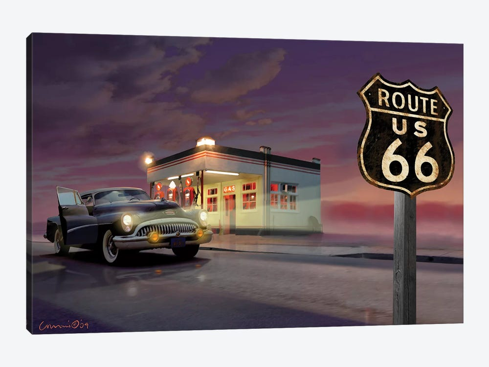 Route 66 by Chris Consani 1-piece Canvas Wall Art