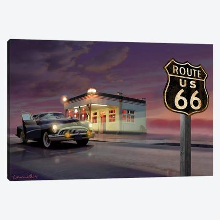 Route 66 Canvas Print #CCI72} by Chris Consani Canvas Art Print