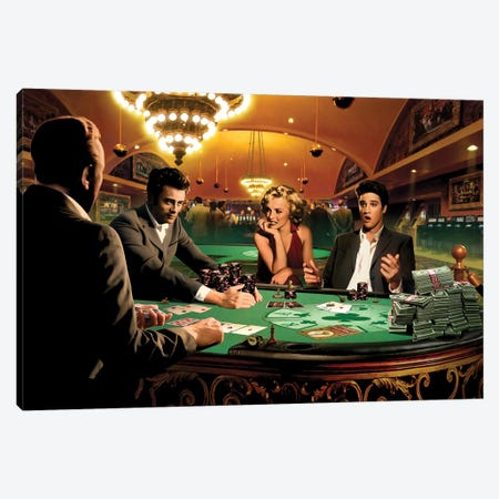 Royal Flush I Canvas Print #CCI74} by Chris Consani Canvas Wall Art