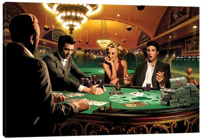 Royal Flush I Canvas Art Print