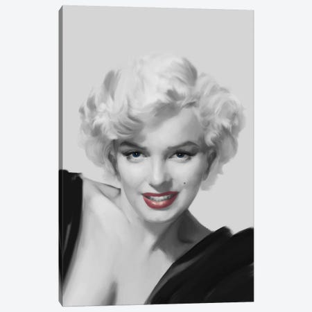 The Look Red Lips Canvas Print #CCI80} by Chris Consani Canvas Wall Art