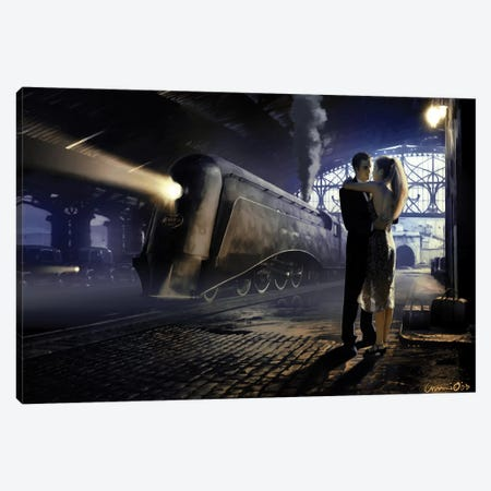 Train Depot Canvas Print #CCI85} by Chris Consani Art Print