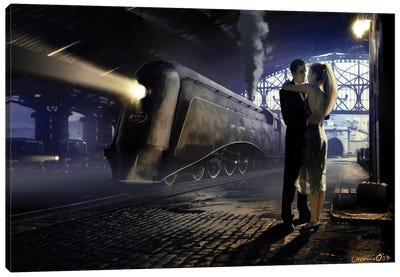 Train Depot Canvas Art Print
