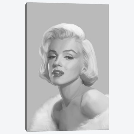 True Blue Marilyn Canvas Print #CCI86} by Chris Consani Art Print