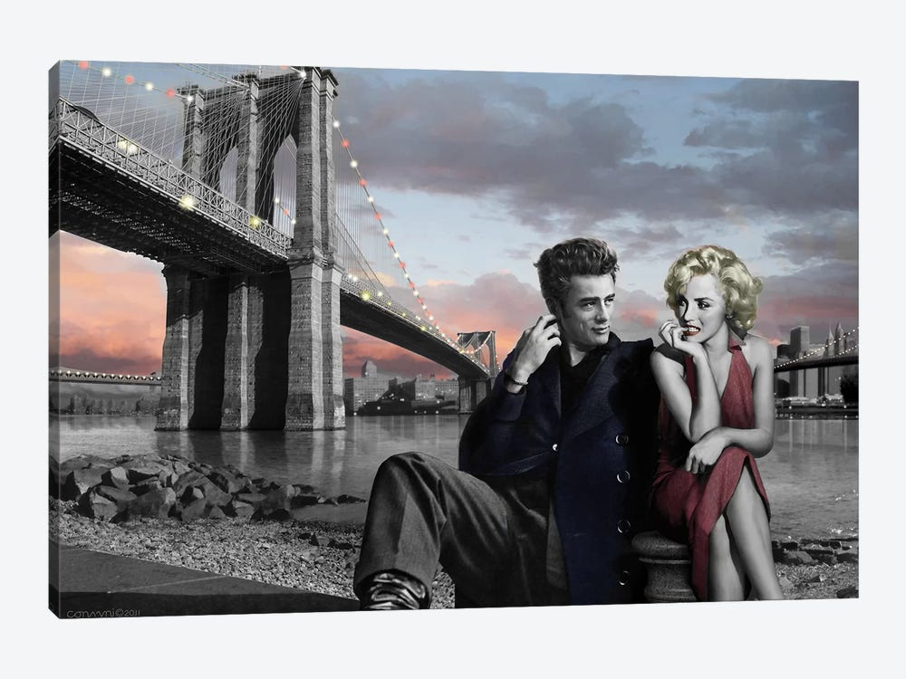 Brooklyn Bridge II 1-piece Canvas Artwork