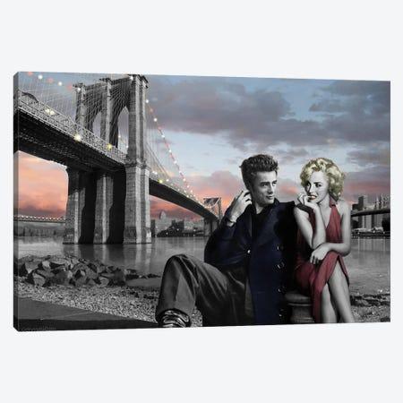 Brooklyn Bridge II Canvas Print #CCI8} by Chris Consani Canvas Print