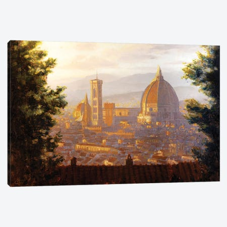 Florence, Italy - The Duomo From A Distance II Canvas Print #CCK106} by Christopher Clark Canvas Art