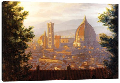 Florence, Italy - The Duomo From A Distance II Canvas Art Print