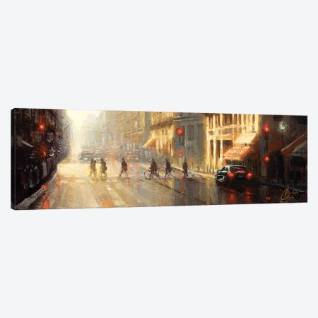 Paris - Crossing The Street Canvas Print #CCK107} by Christopher Clark Canvas Wall Art