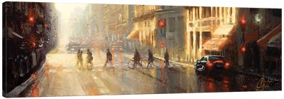 Paris - Crossing The Street Canvas Art Print