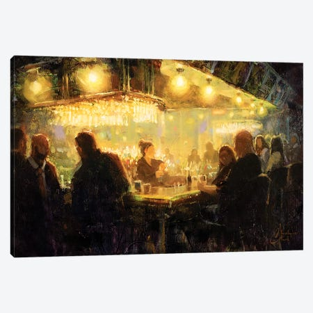 A Night Out With Friends Canvas Print #CCK108} by Christopher Clark Canvas Art Print